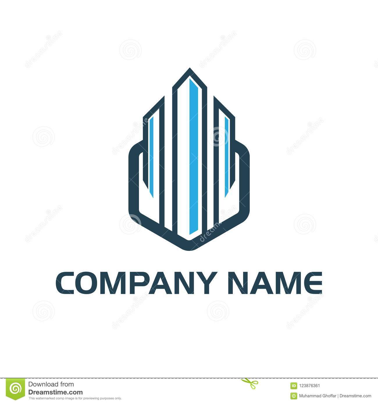 Building House And Interior Style Logo Vector Stock Vector