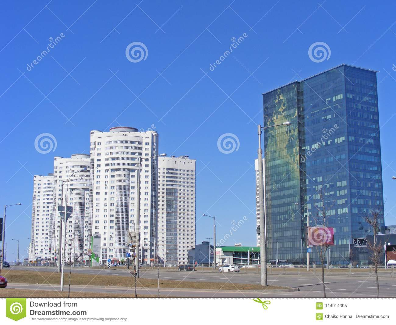 Building In Minsk Modern Architecture Office Building And New