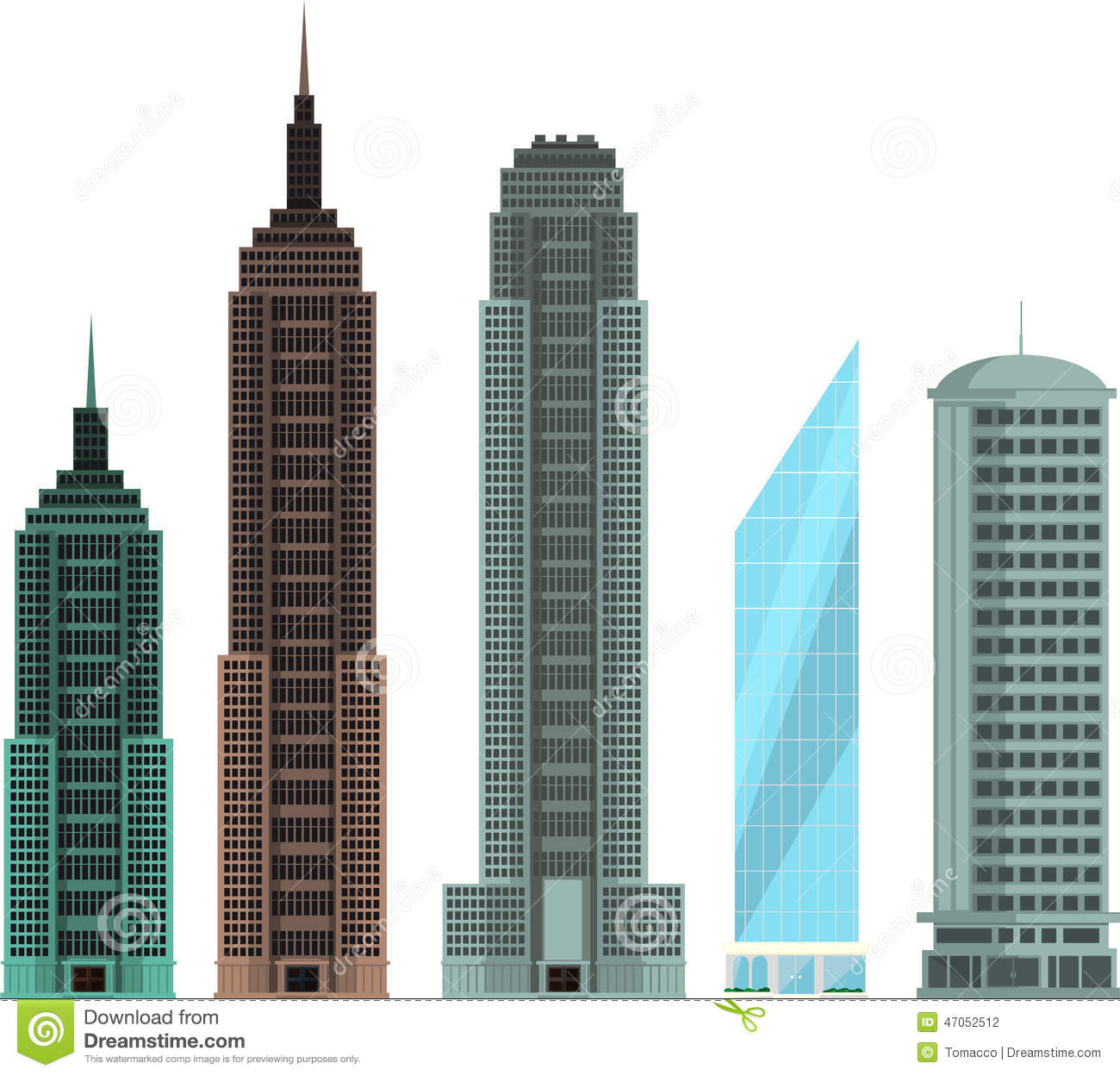 Stock Illustration Building Modern Apartment Skyscraper Skyline Set Four Different Buildings Collection Illustration Image47052512 on Four Story Contemporary House