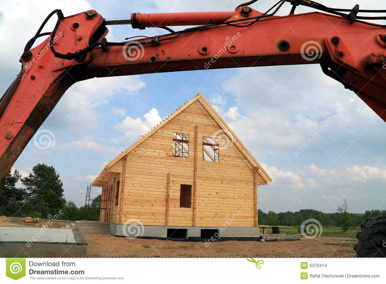 Download Building a new house stock photo. Image of architectural - 5370414