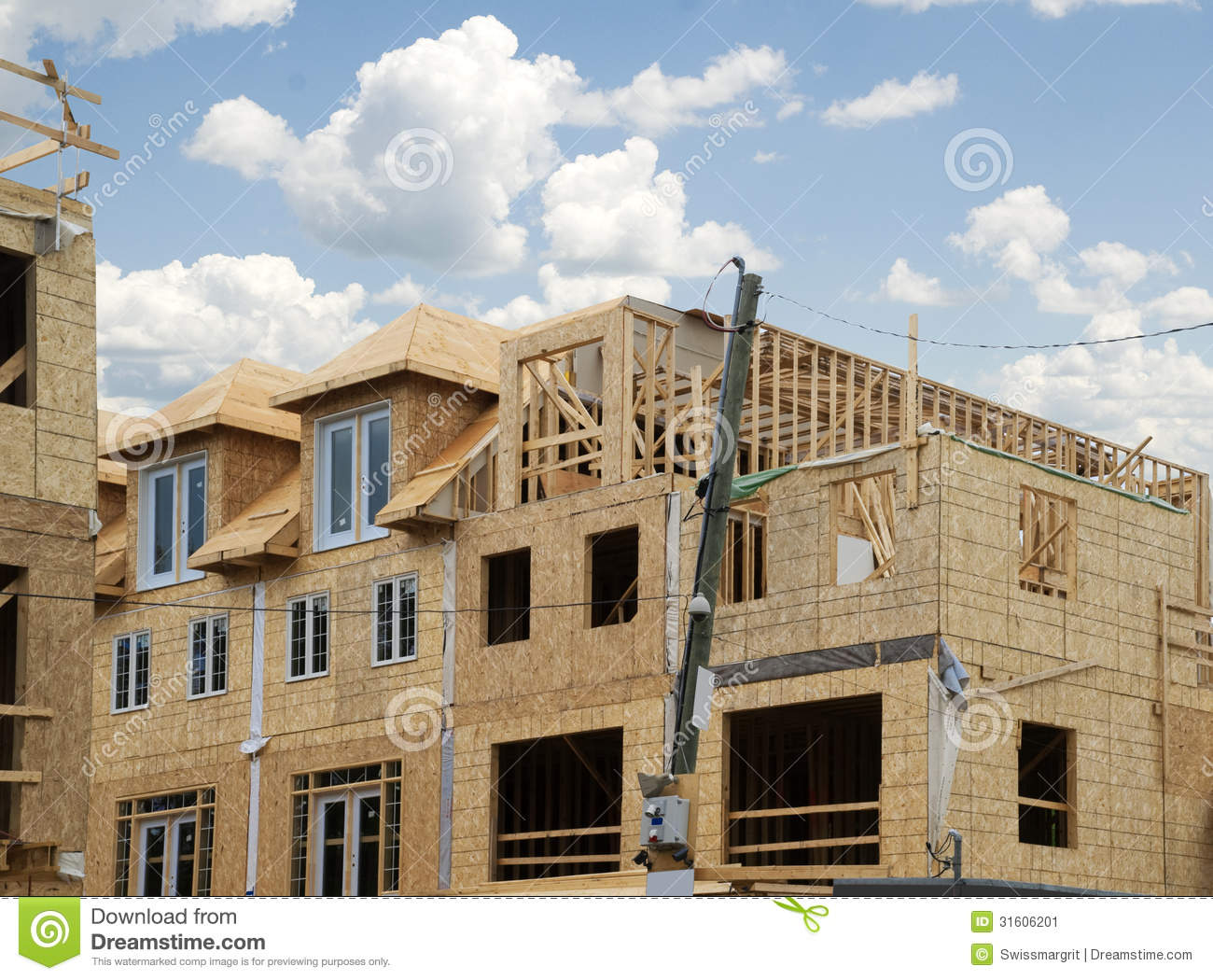 Building new townhouses stock image image 31606201 for House building website