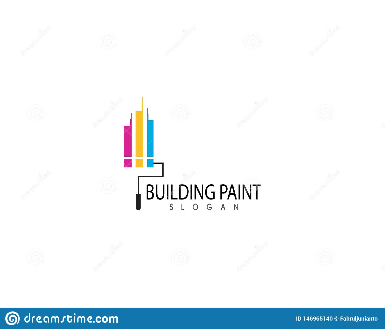 Building Paint Logo Design Vector Stock Vector Illustration Of
