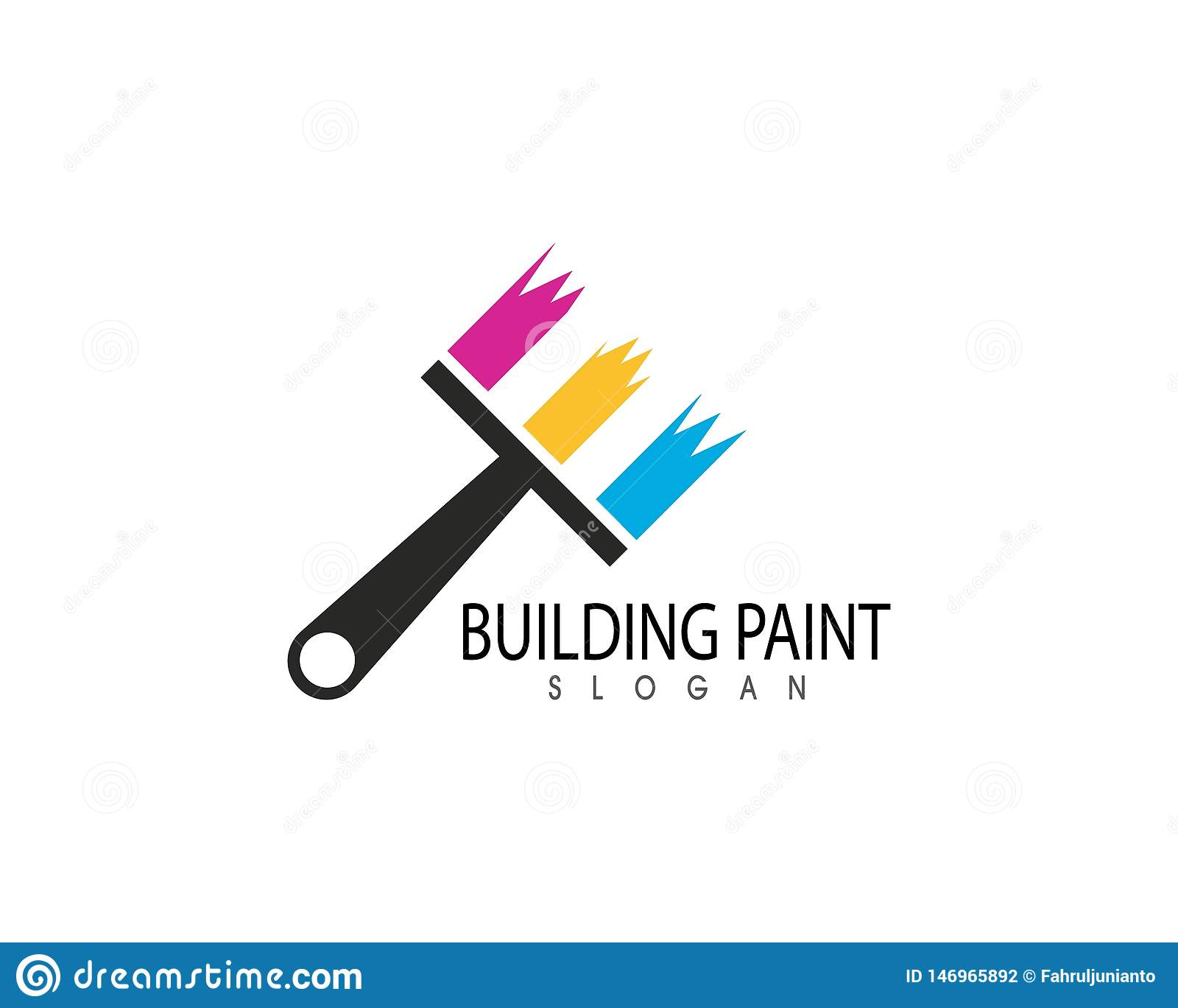 Building Paint Logo Template Vector Stock Vector Illustration Of
