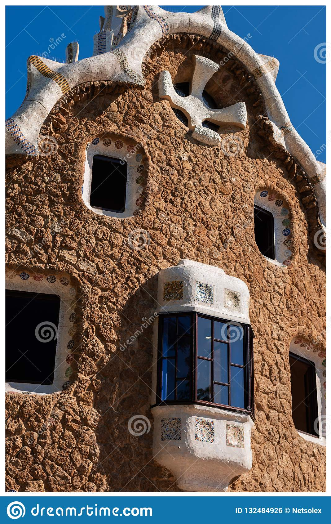 Building of park Guell Barcelona