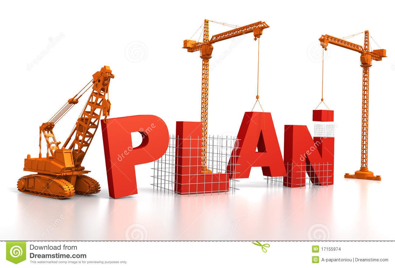 Building a plan stock illustration image of symbol for Design a building