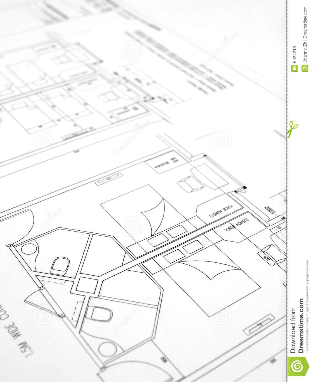 Building plans hotel construction royalty free stock for Plan construction