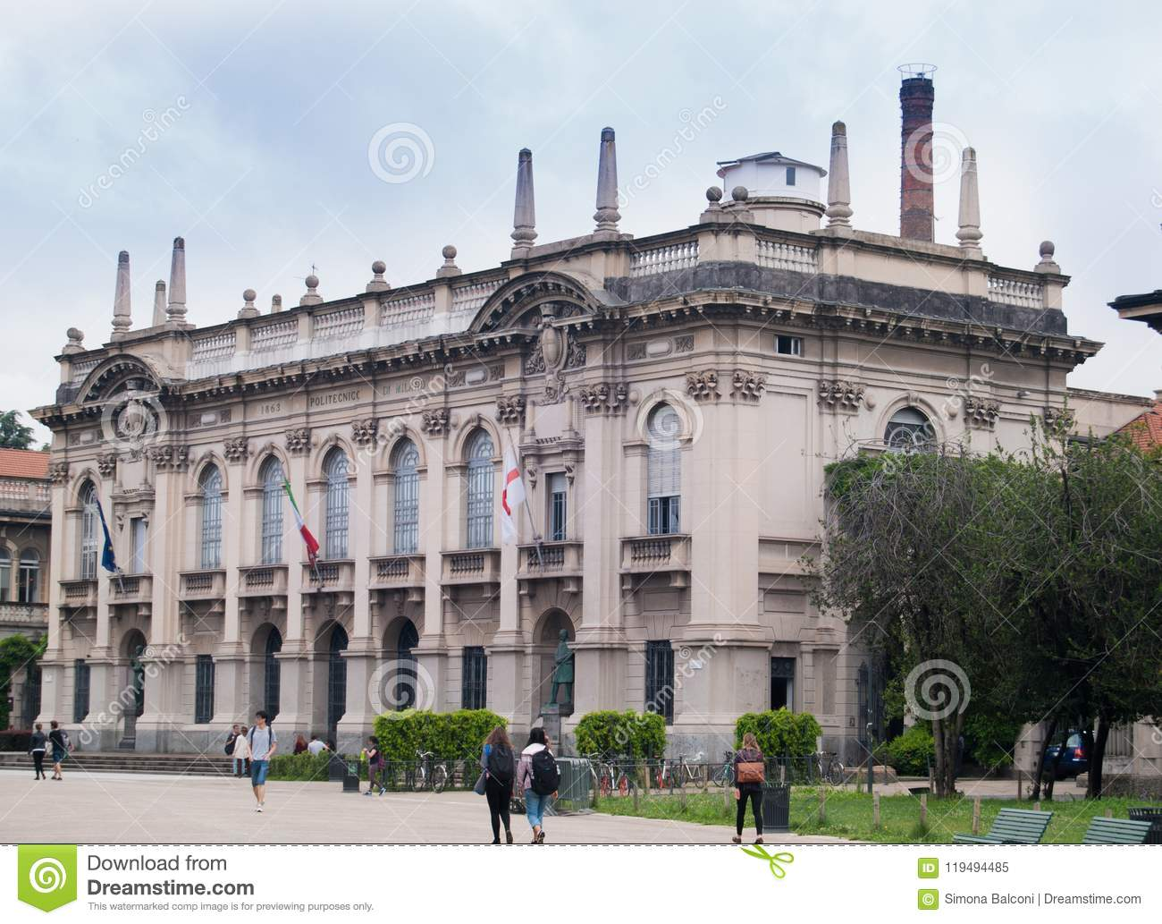 Building Of The Polytechnic University Of Milan Editorial Image Image Of Culture Prestigious 119494485
