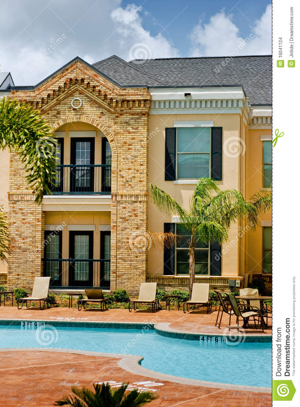 Building With A Pool Stock Images Image 16041124