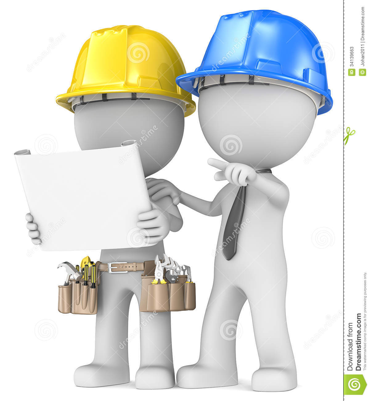 Building project planning stock illustration for Blueprint builder free