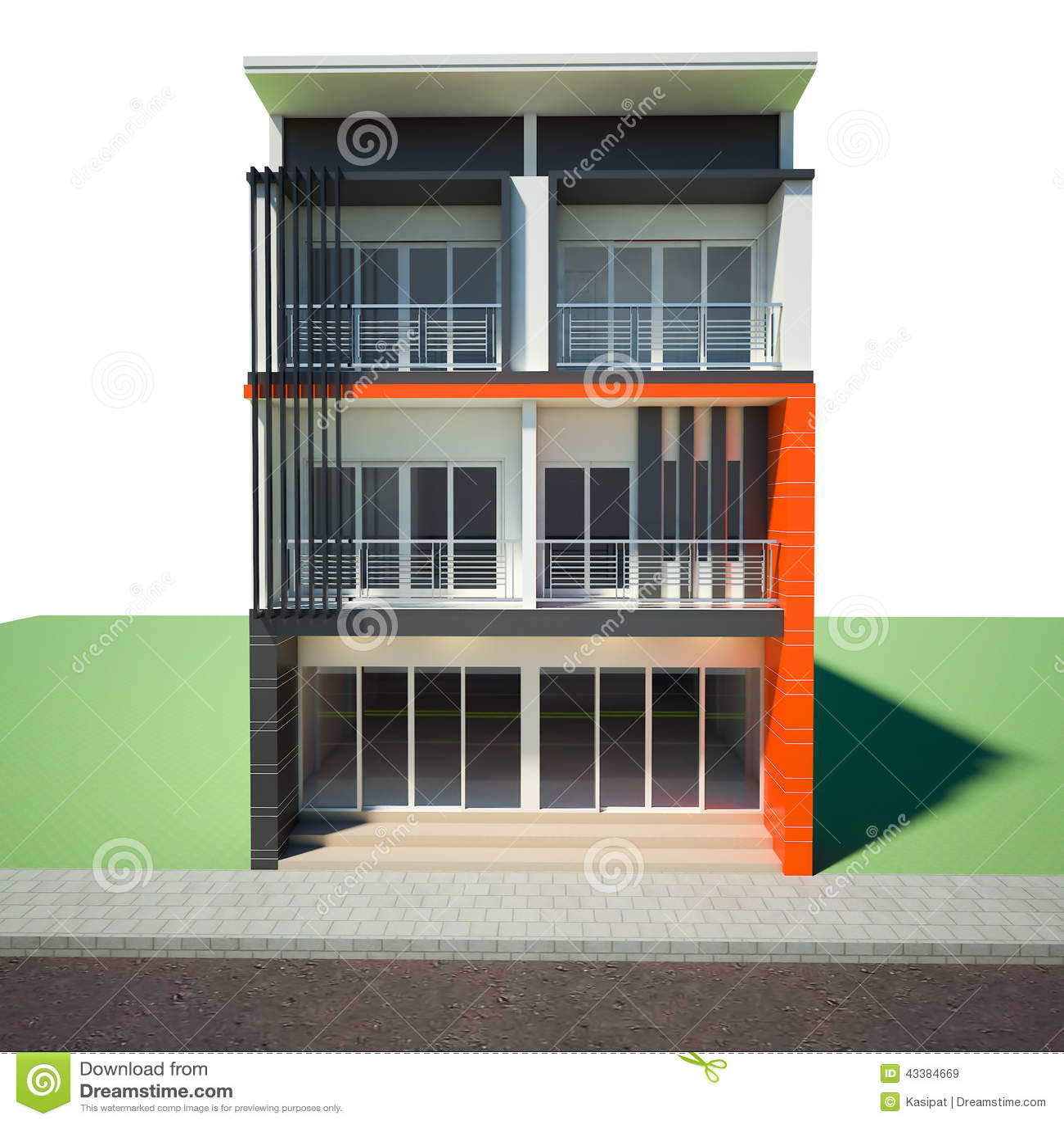 Royalty Free Illustration. Download Building 3rd Floor ...