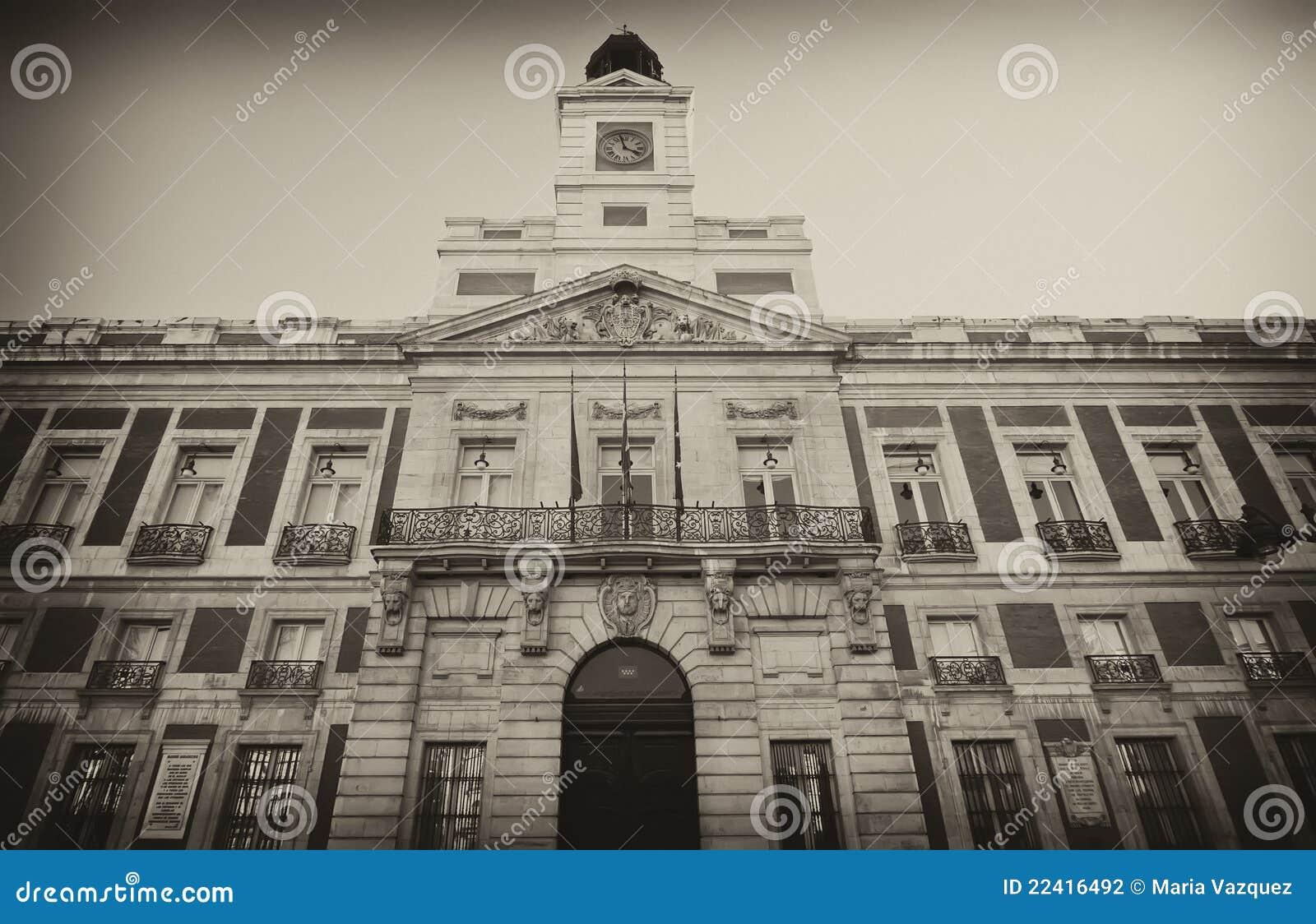 Building real casa de correos in madrid spain stock Casa del correo