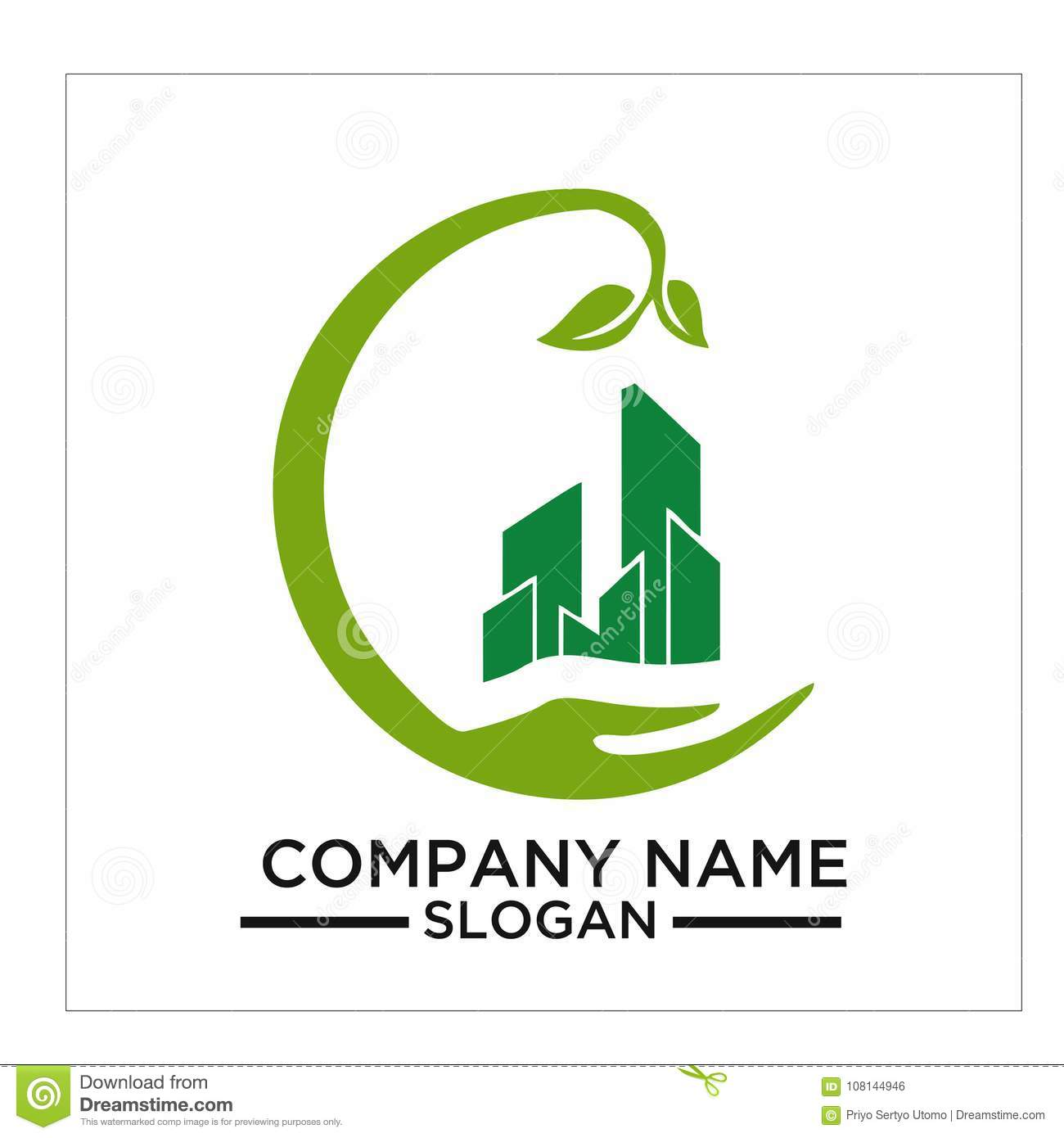 Green Building, Real Estateh, Home And Construction Logo ...