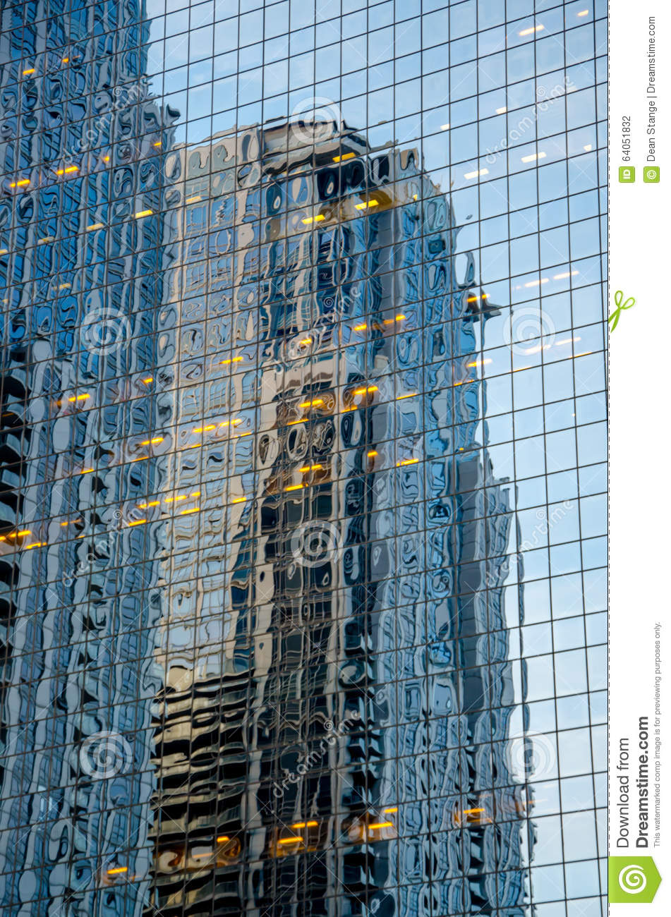 Building Reflection stock photo. Image of office, travel ...