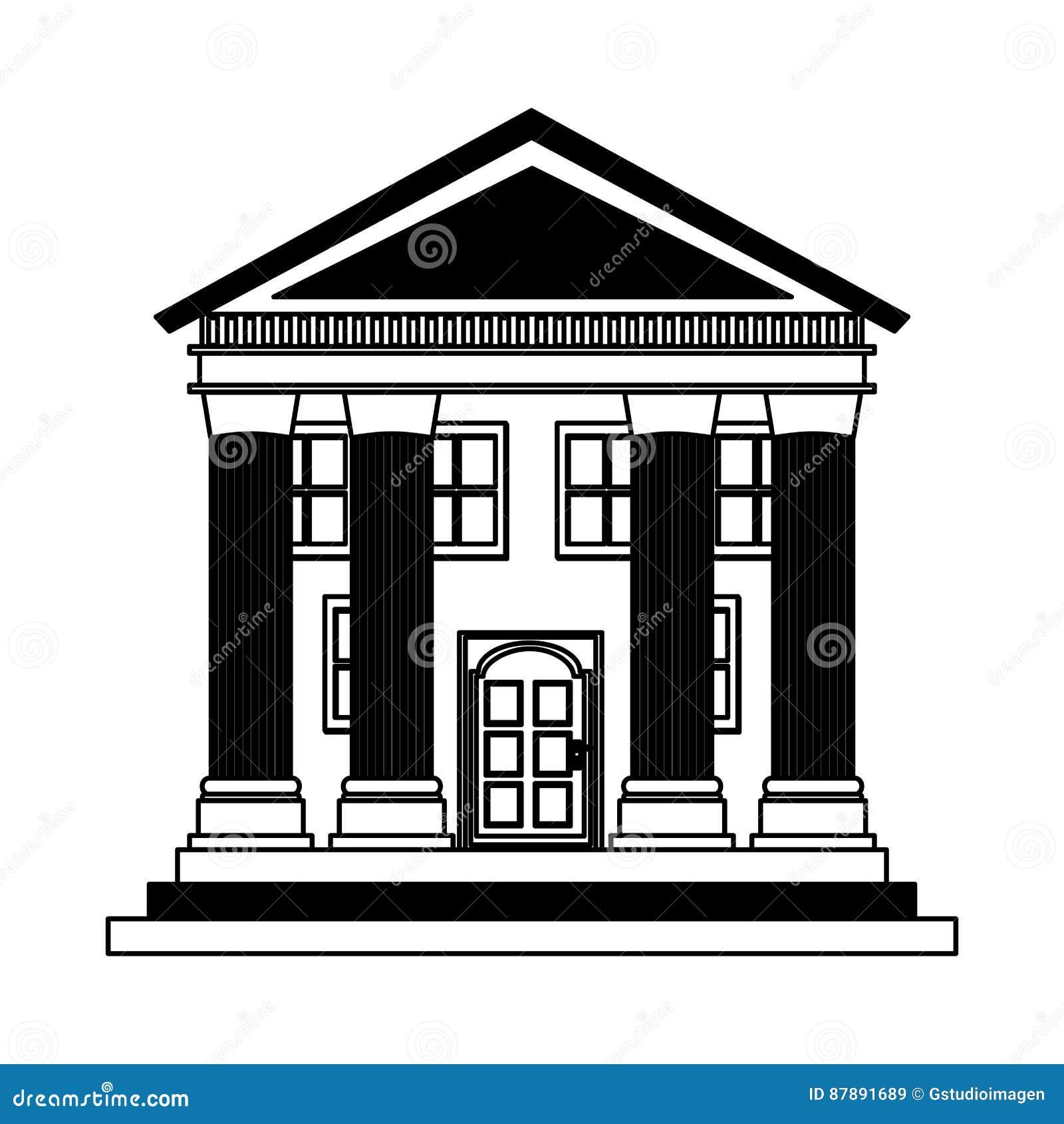 Building roman columns icon
