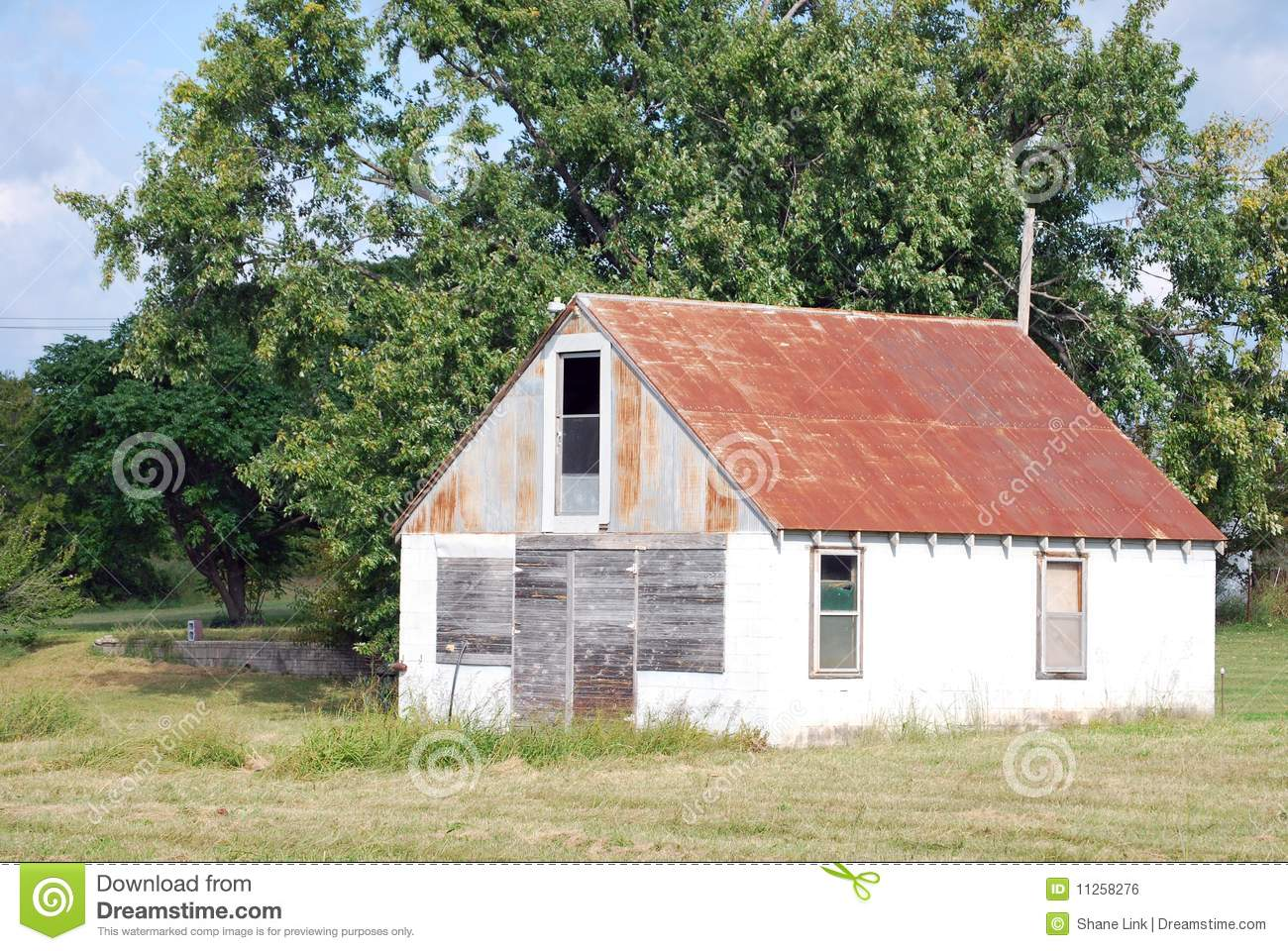Building With Rusted Metal Roof Stock Photo Image 11258276