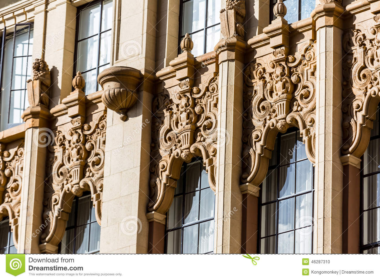 Building scroll work stock photo image 46287310 for Window scroll
