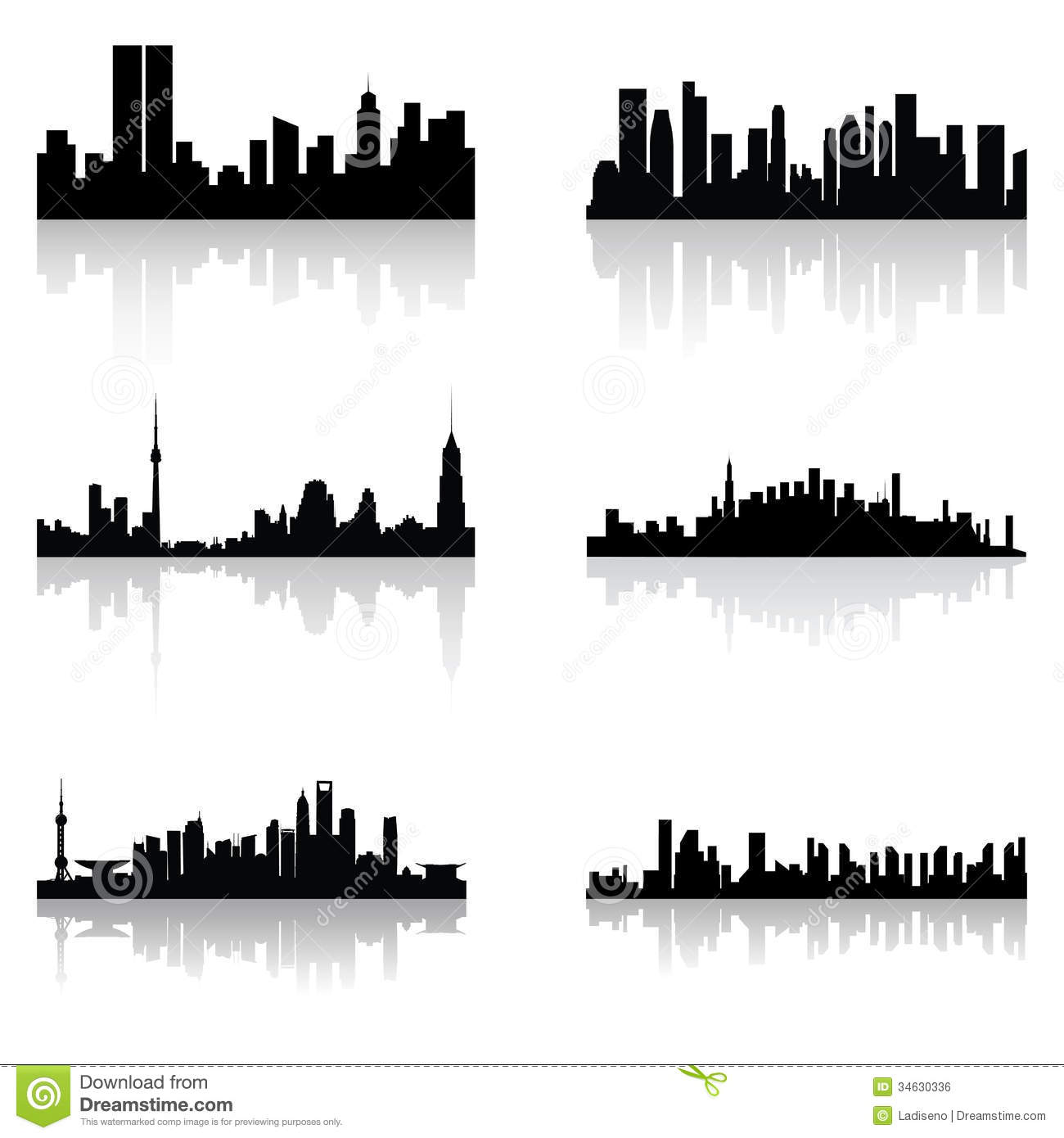Building Silhouettes Stock Vector Image Of Construction