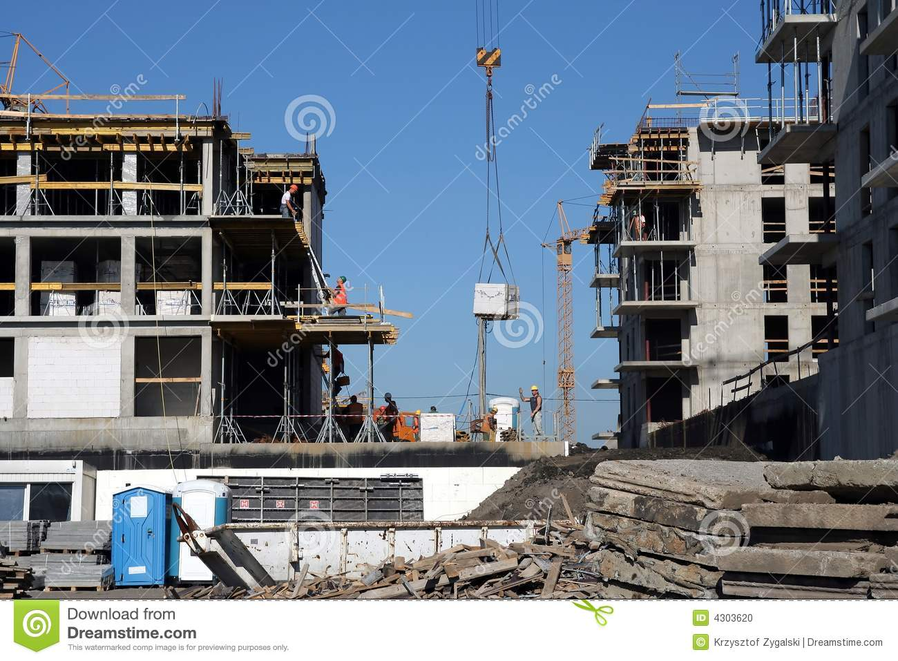 Building site stock photo image 4303620 for Images of building sites