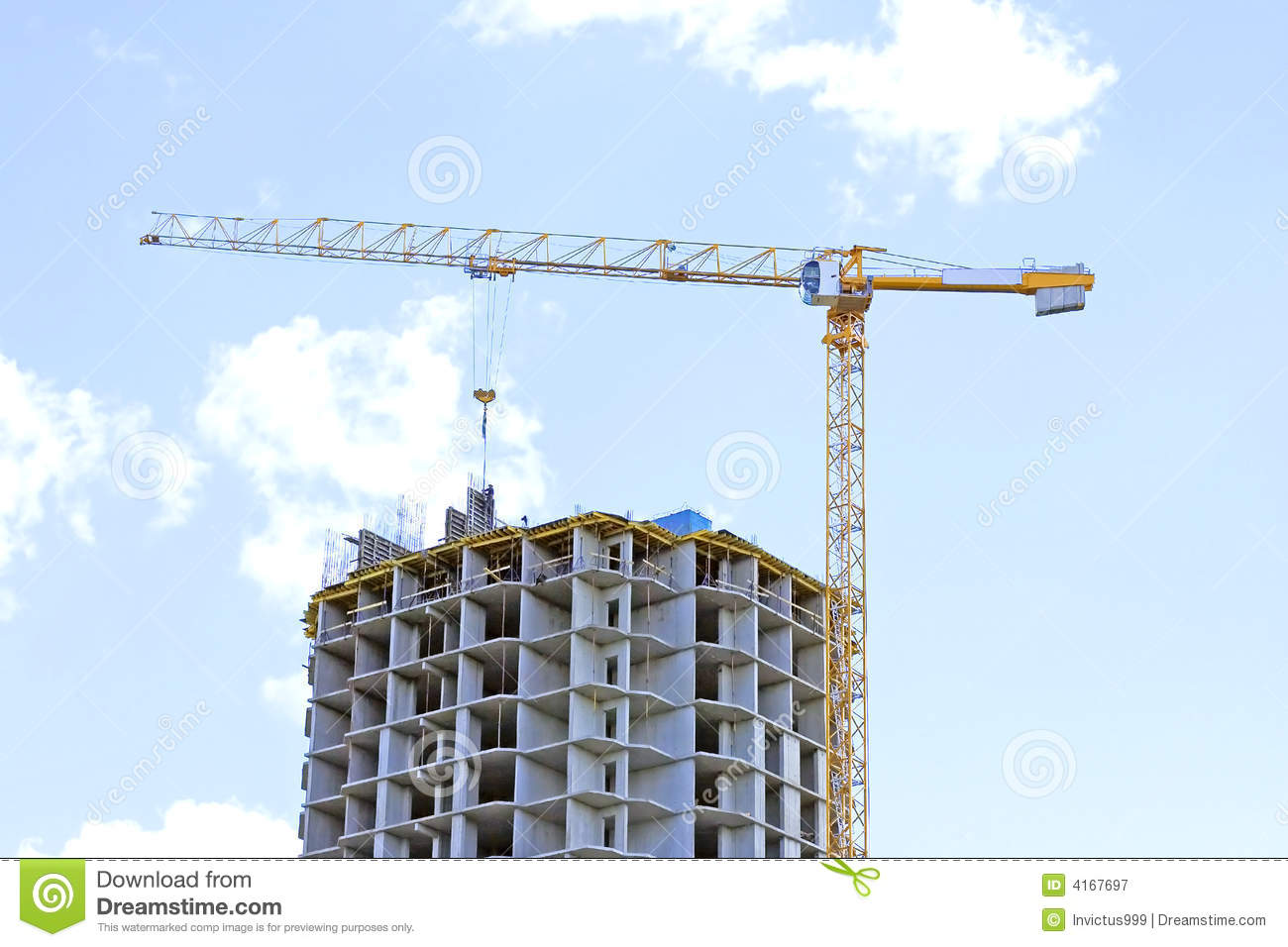 Building site with crane stock image image of power for Images of building sites