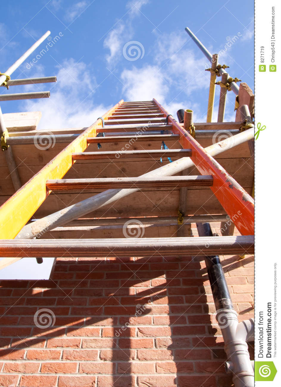 Construction Site Break Room : Building site ladder royalty free stock images image