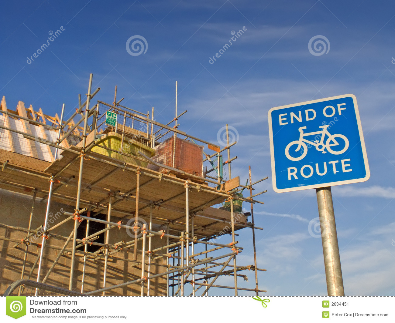 Building Site New Home Stock Image Image 2634451
