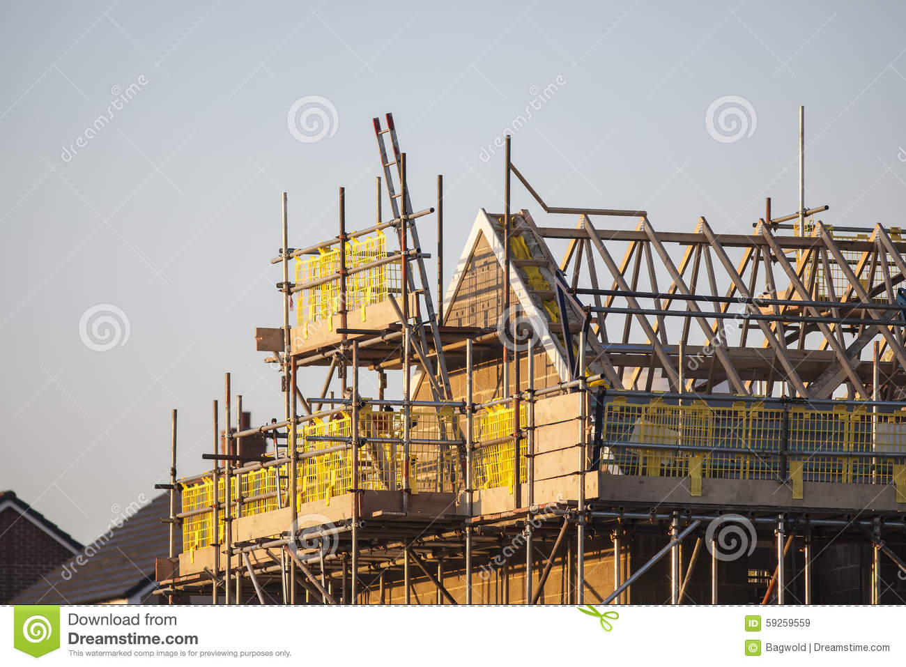 Building site with new homes stock photo image 59259559 for Home construction websites