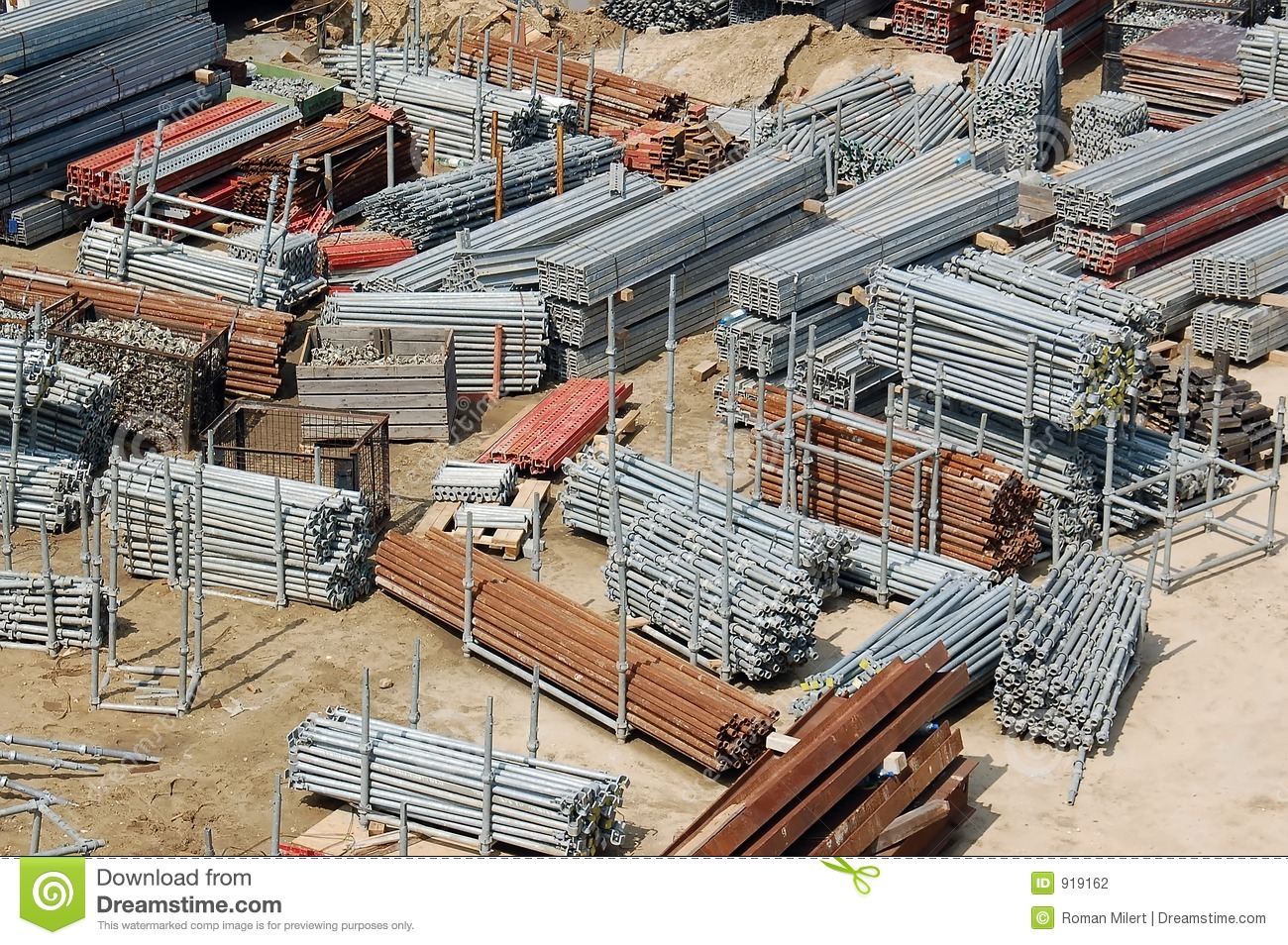 Building site storage yard stock photography image 919162 for Images of building sites