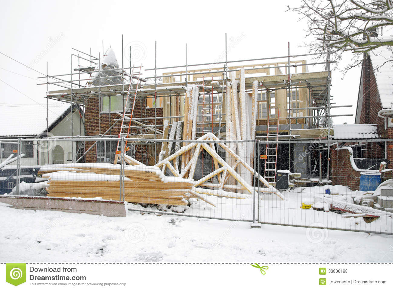 Building site in winter royalty free stock photos image for Building site house