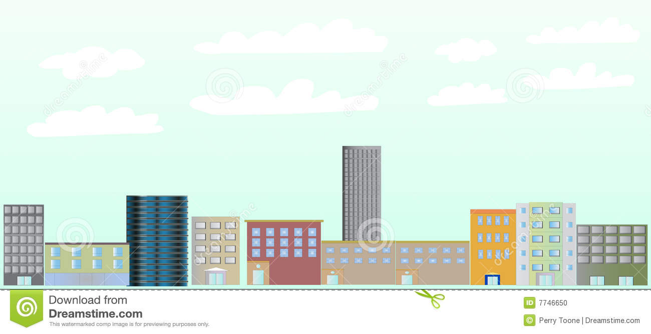 City Buildings Illustration