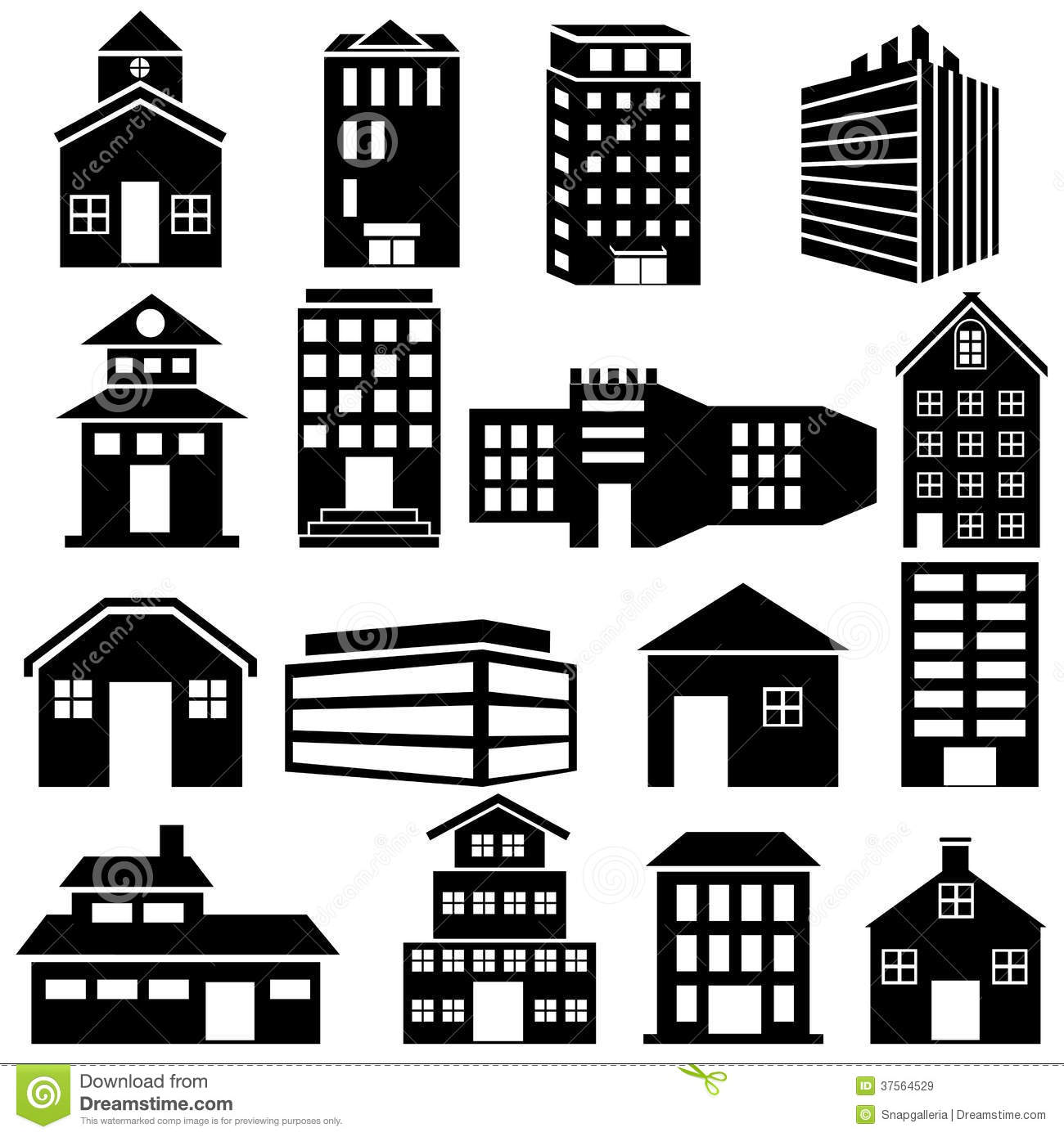 Business Office Floor Plans Building And Skyscraper Icon Royalty Free Stock Images
