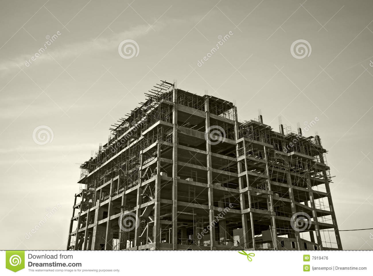 Building structure stock photo. Image of white, building ...