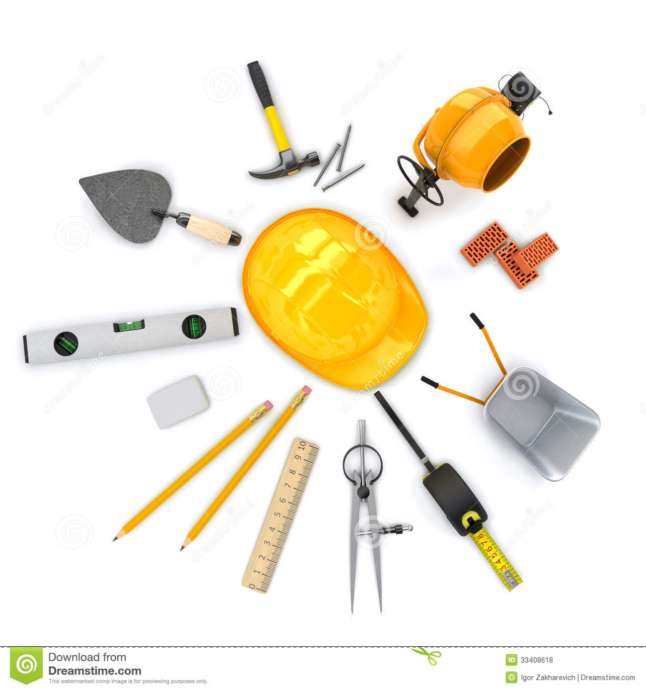 Building tools collection royalty free stock photos for Tools to build a house