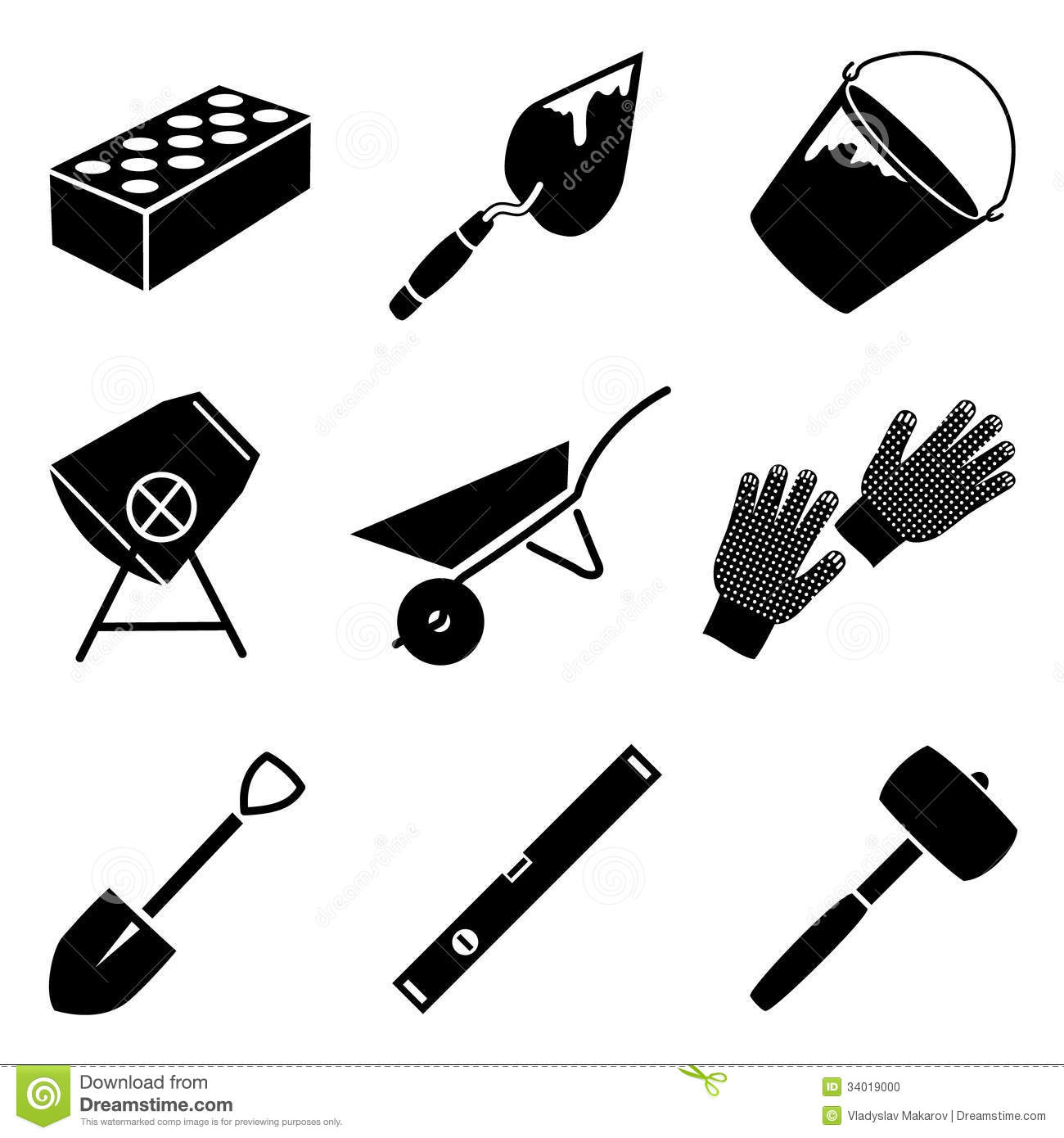 Building Tools Vector Set Stock Photo - Image: 34019000