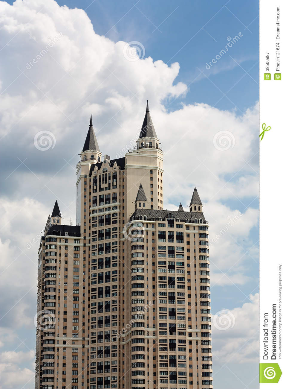 Building with turrets