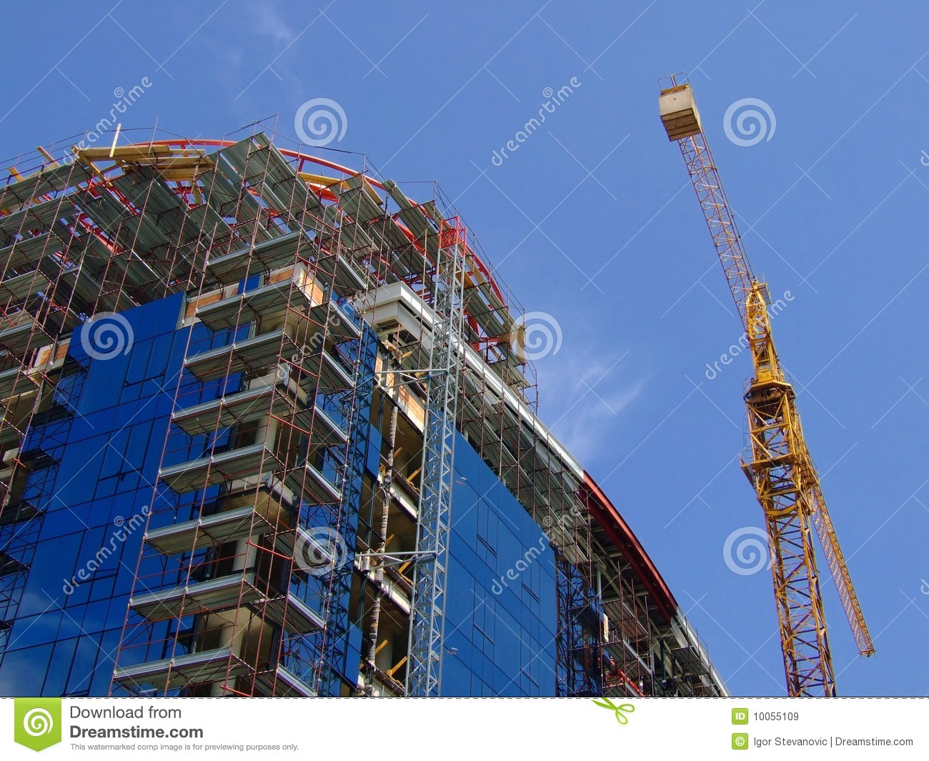 Download Building Under Construction Stock Image - Image of estate, offices: 10055109
