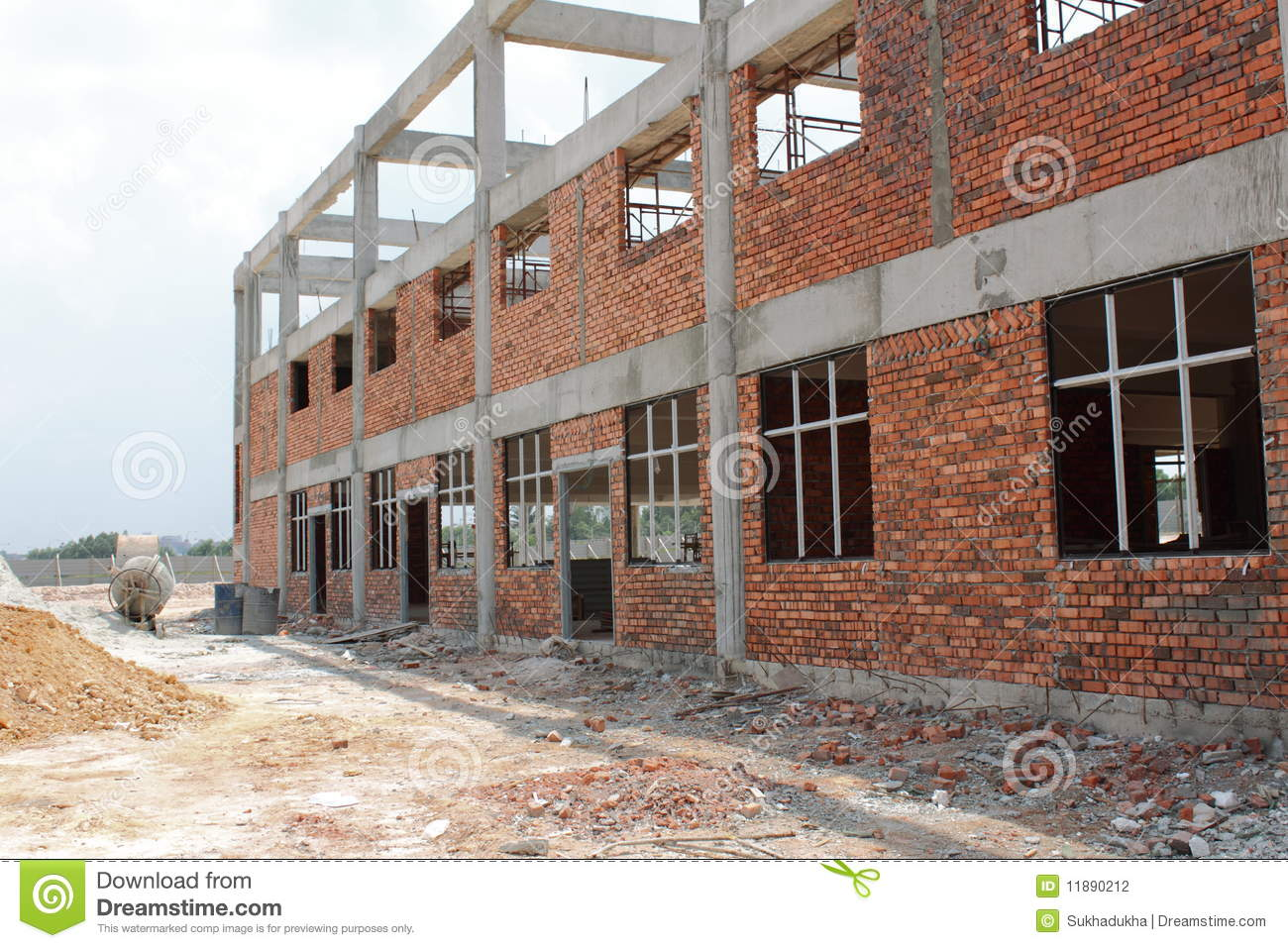 Building Under Construction Stock Photo - Image of columns ...