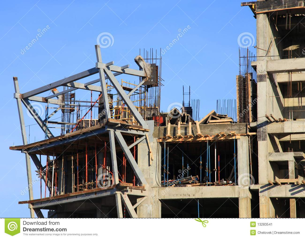Building Under Construction Stock Image - Image of europe ...