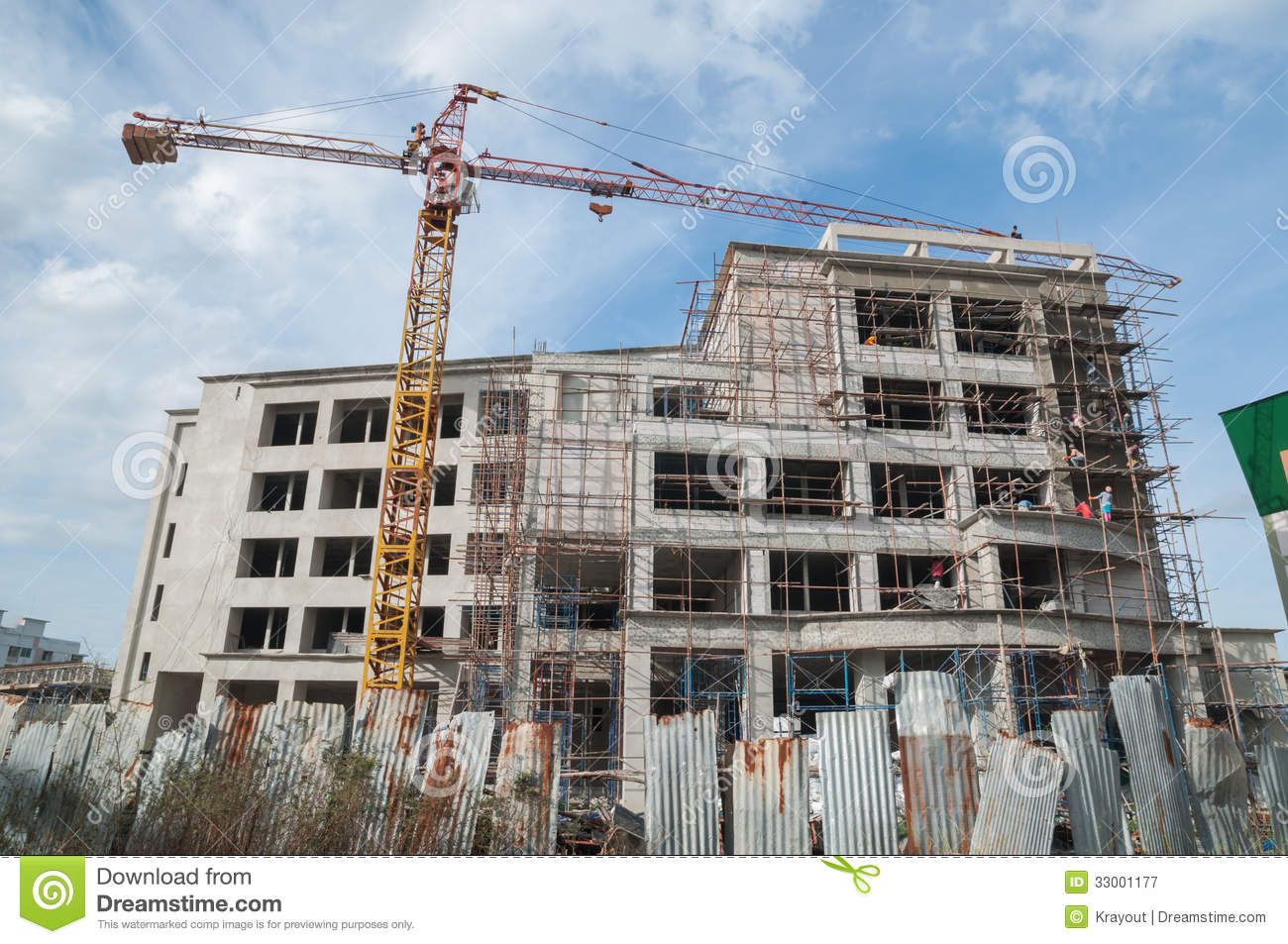 Building Unfinished Royalty Free Stock Photography Image