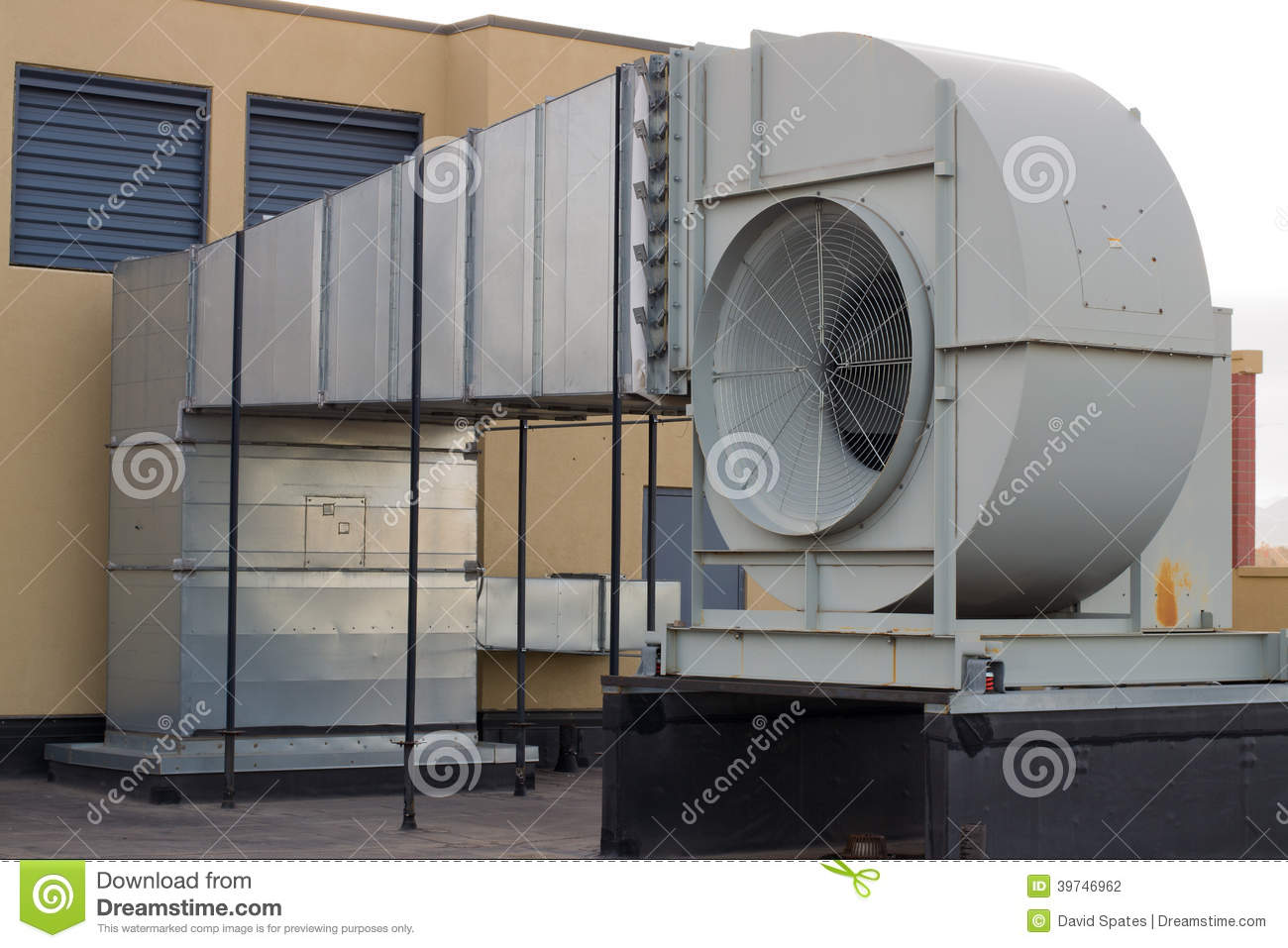 Industrial Building Ventiltors : Building ventilation stock photo image of construction