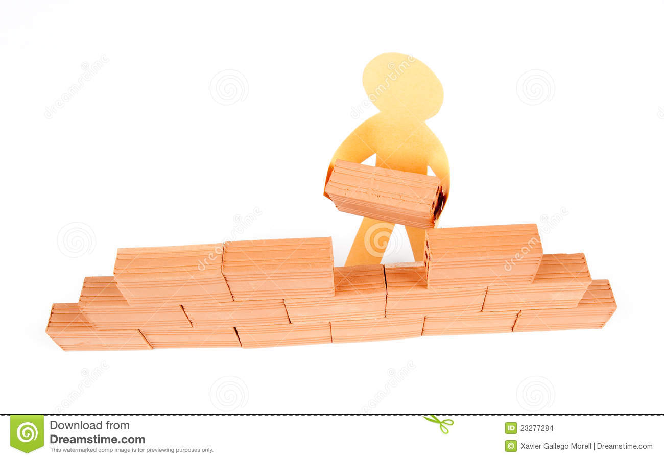 Build The Wall : Building a wall stock images image