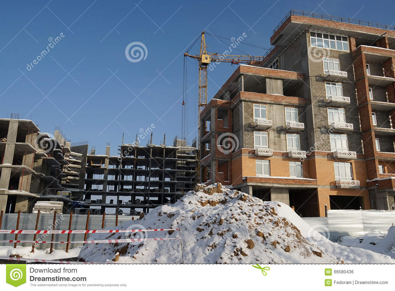 Building Winter Stock Photo Image 66580436