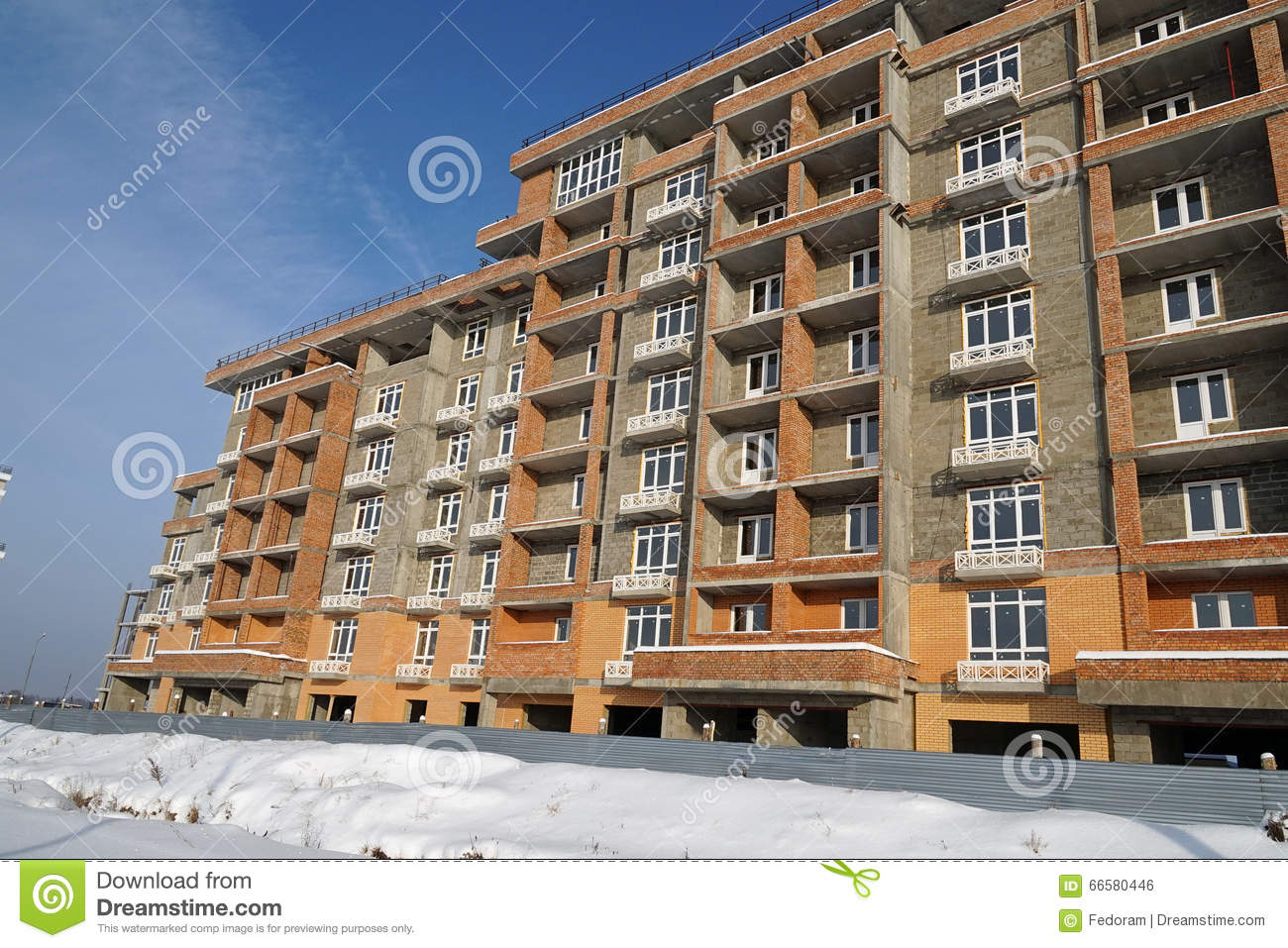 Building Winter Stock Photo Image 66580446