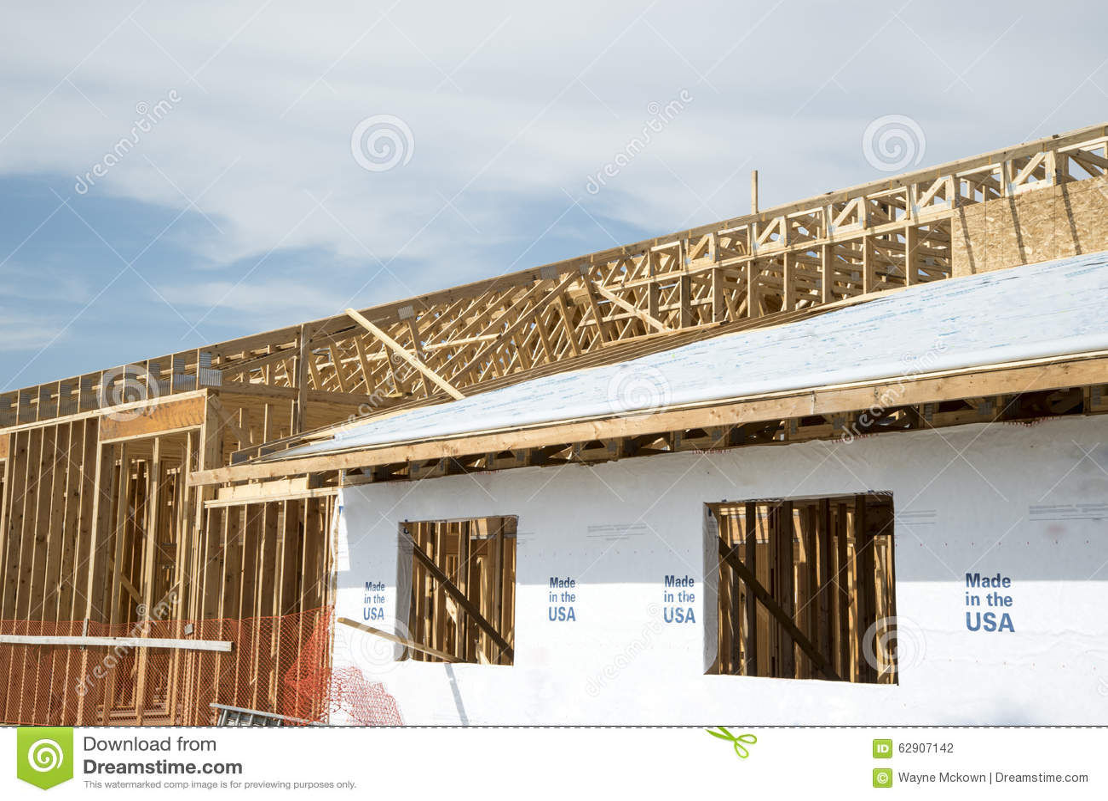 Building Wood Framing Stock Photo Image 62907142