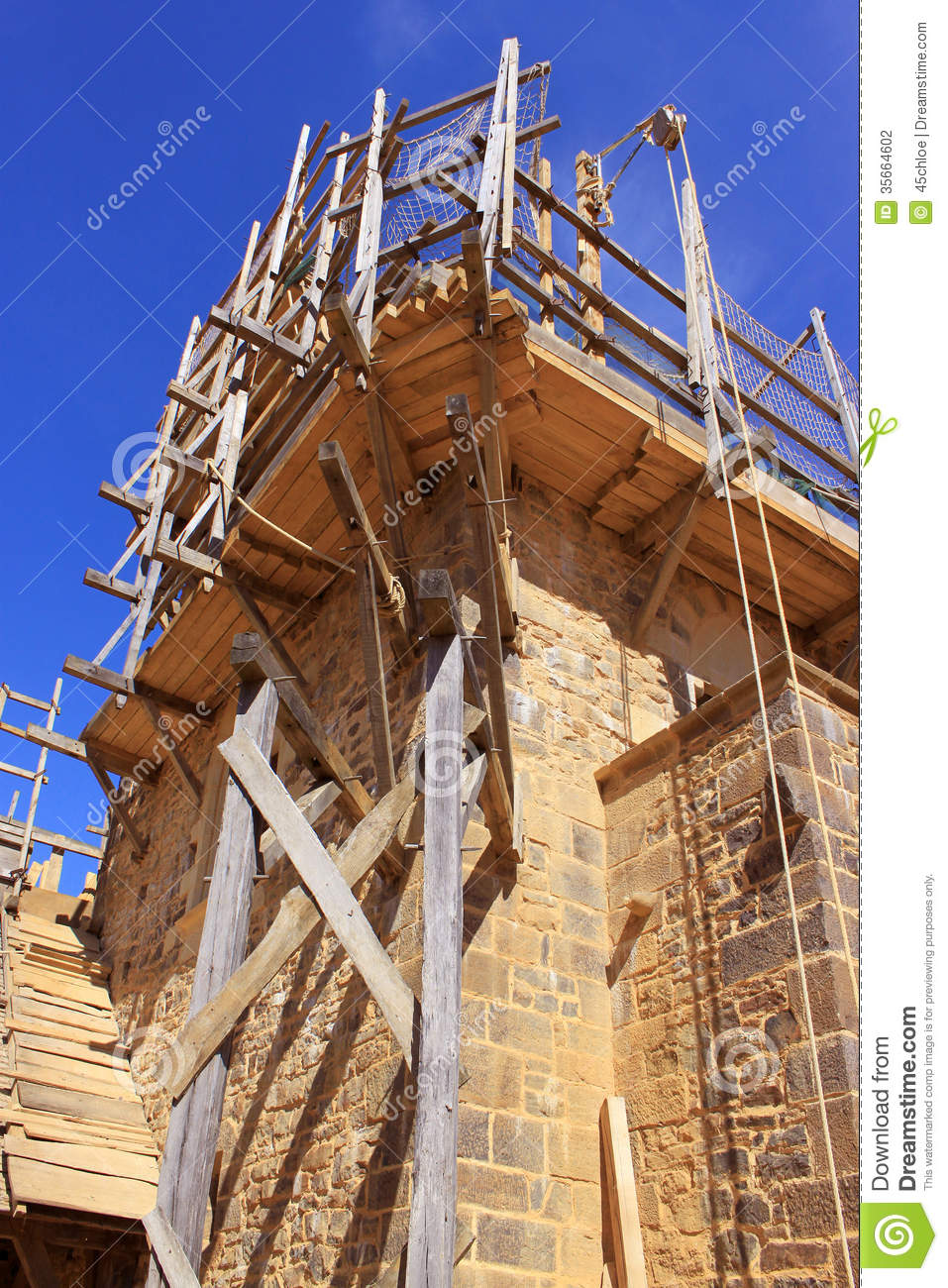 Building Work Stock Photo Image Of Guedelon Middle