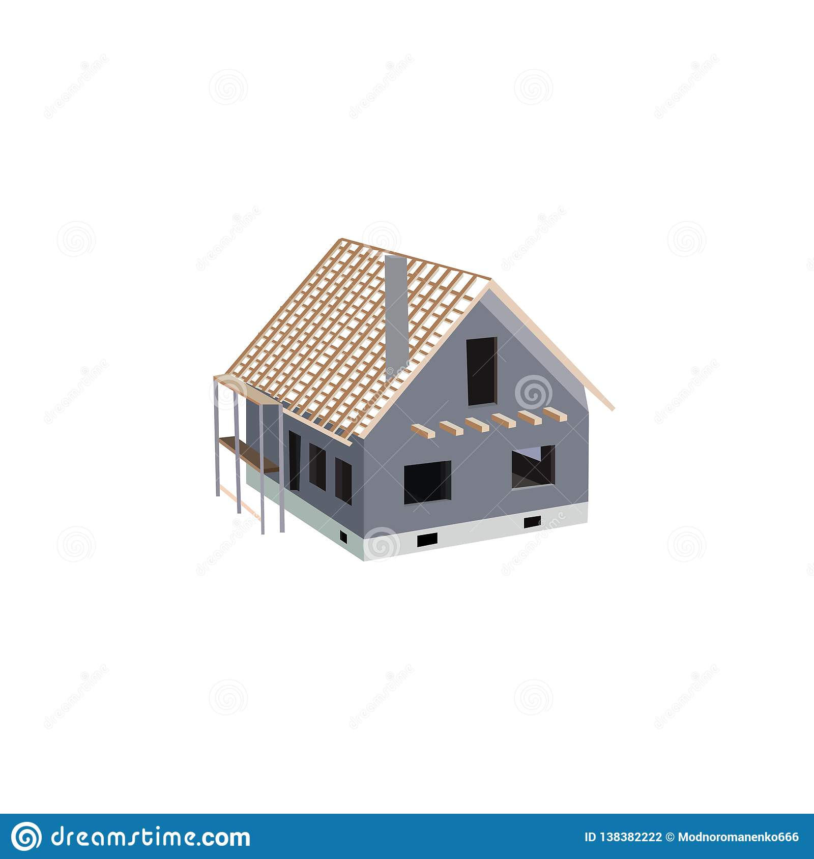 Building works and unfinished house for privat life