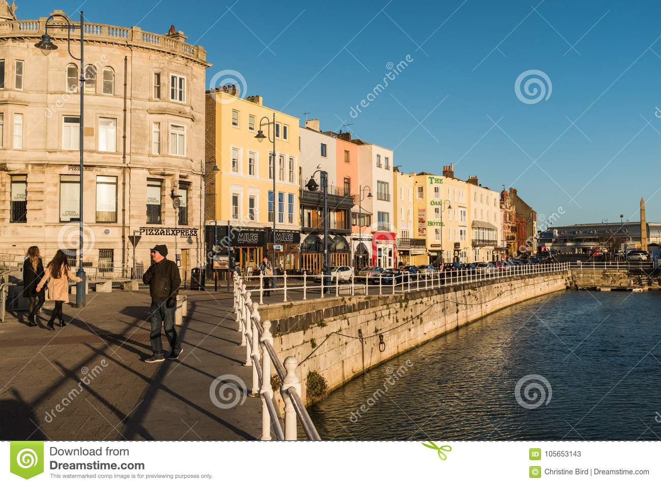 Buildings Along The Harbour Front In Ramsgate Kent Uk