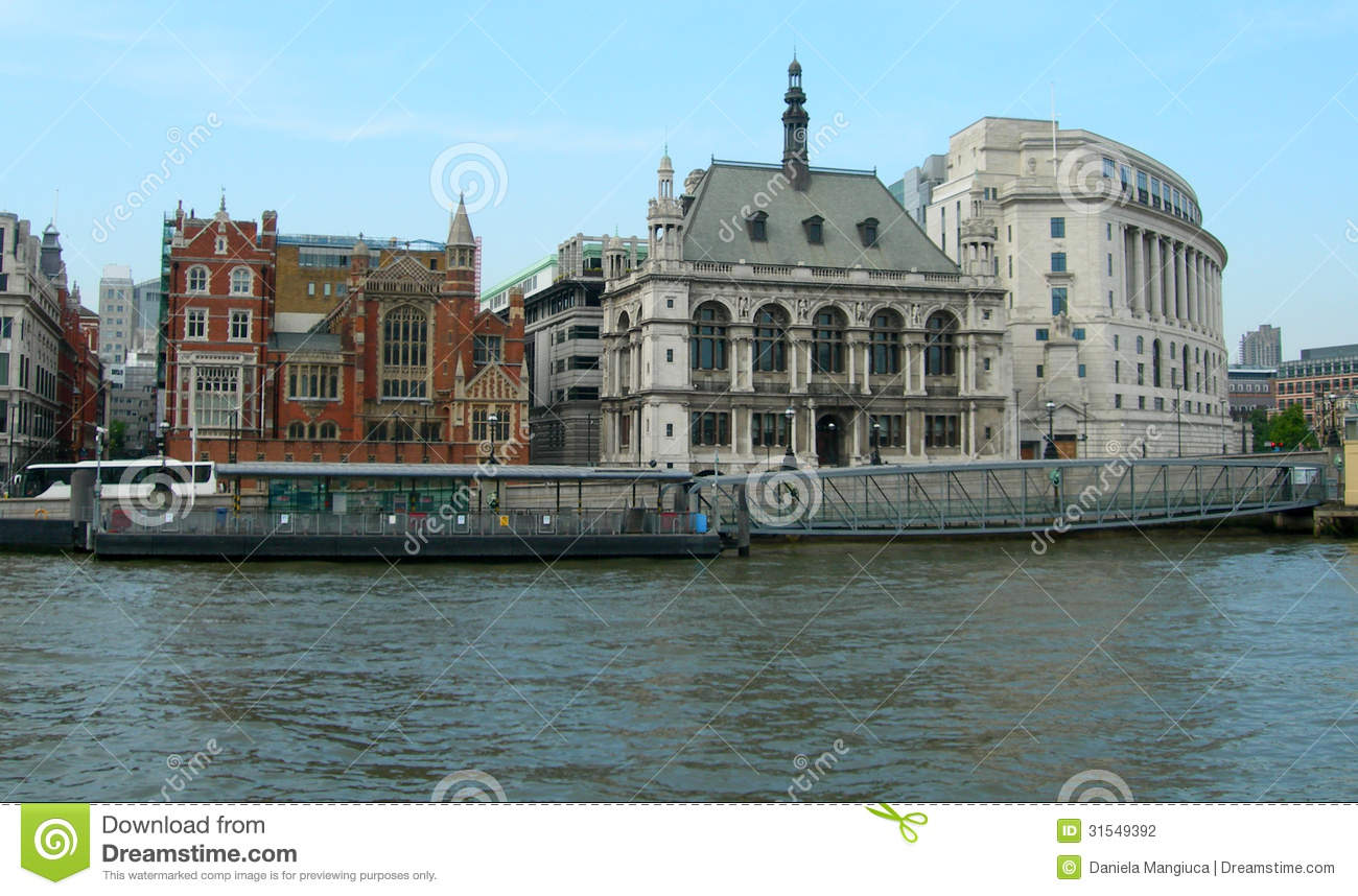Buildings Along Thames In London Stock Photography Image