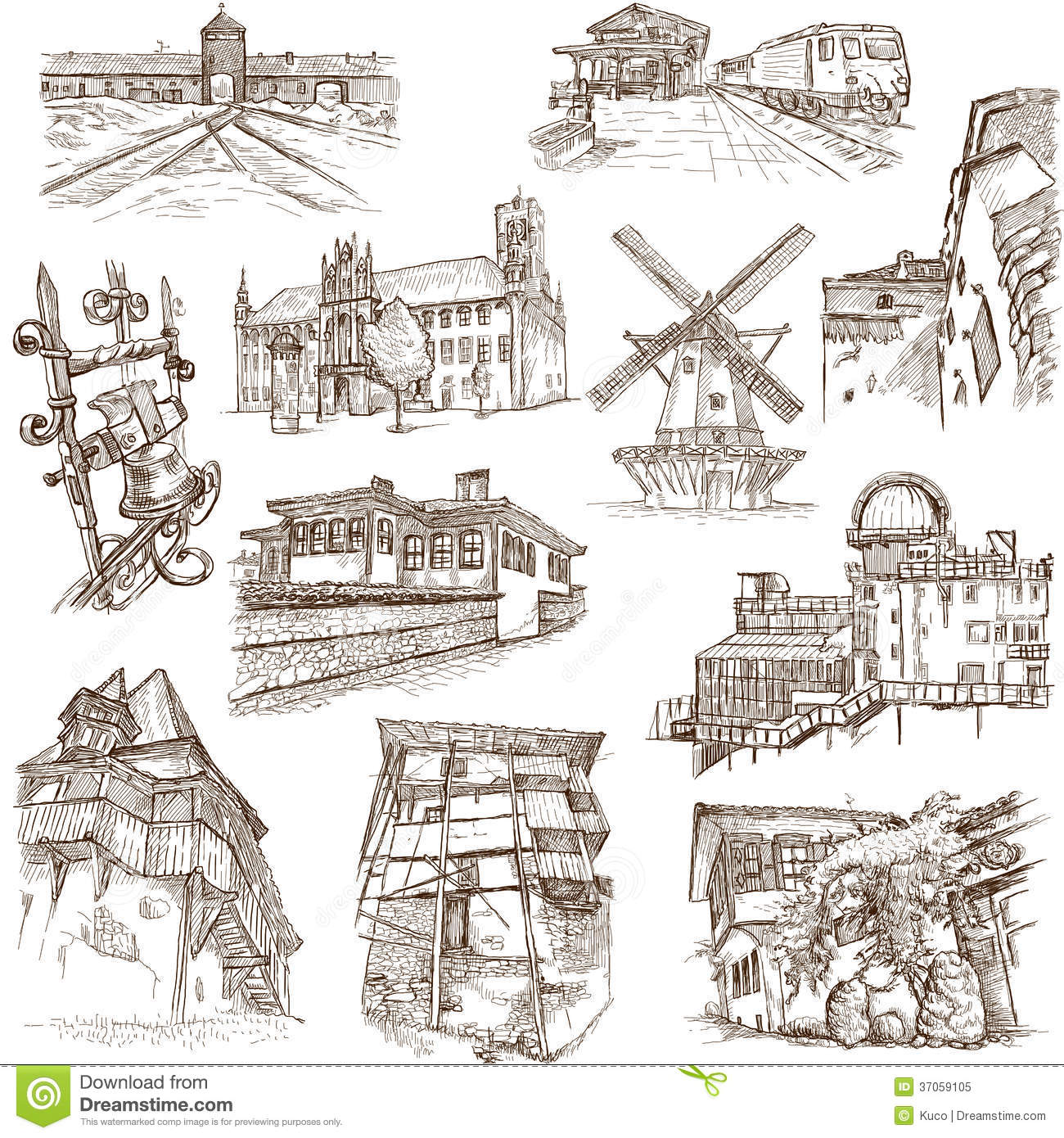 Delighful Architectural Drawings Of Famous Buildings Collection