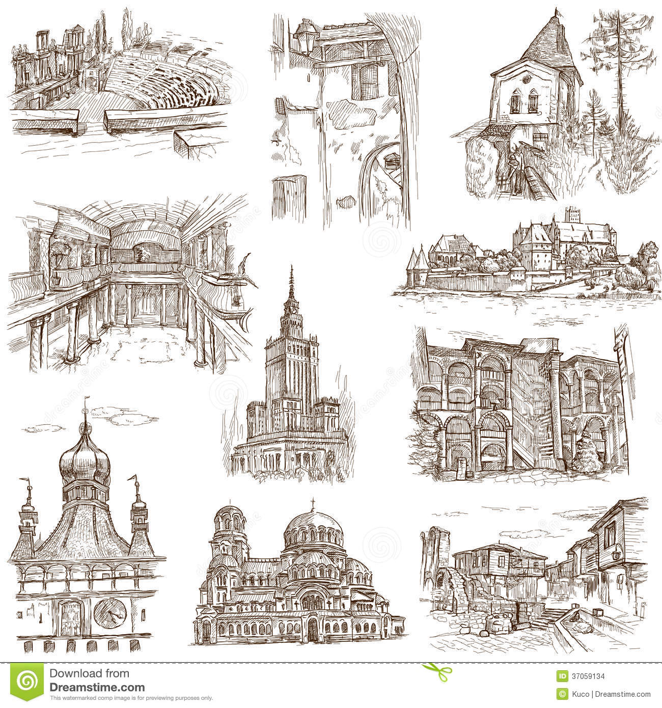 Famous Buildings Drawings Buildings And Architecture