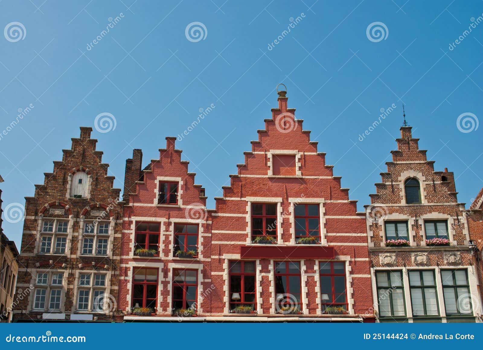 Buildings in Central Square - Bruges